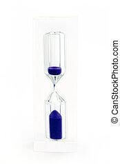 紫色, 上に, 白い砂, 砂時計