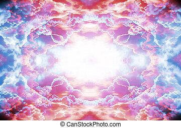 紫色, 以及, 紅色, 幻想, 背景