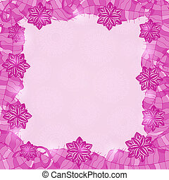 紫色, 光沢がある, 花, frame.