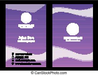 紫色, 名刺