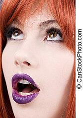 紫色, 唇