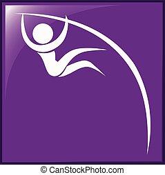 紫色, 地下, 棒, 背景, アイコン