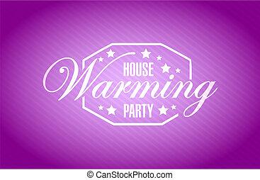紫色, 家, 印, 背景, パーティー, 暖まること