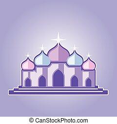 紫色, 寺院