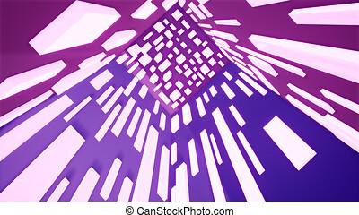 紫色, 技術, 背景, 3d, レンダリング, 抽象的