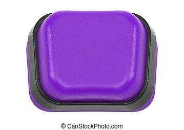 紫色, 押しボタン, 隔離された
