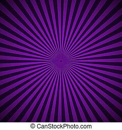 紫色, 抽象的, 光線, 背景, 放射状