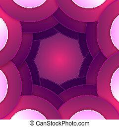 紫色, 抽象的, 形, ペーパー, 背景, ラウンド