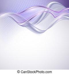 紫色, 抽象的, 背景, 波