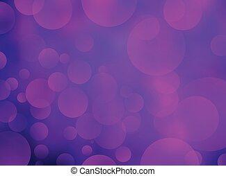 紫色, 抽象的, bokeh, 背景, 円