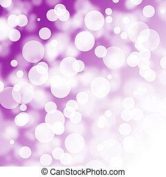 紫色, 抽象的, bokeh, 背景