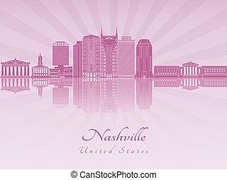 紫色, 放射, ナッシュビル, スカイライン, 蘭