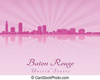 紫色, 放射, バトン, スカイライン, 口紅, 蘭