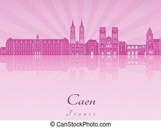 紫色, 放射, 蘭, スカイライン, caen
