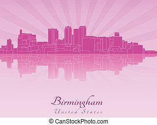 紫色, 放射, al, スカイライン, バーミンガム, 蘭