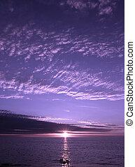 紫色 日落