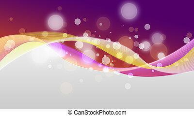 紫色, 波状, 背景