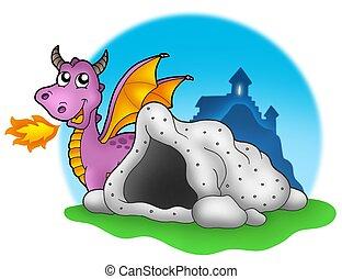 紫色, 洞穴, ドラゴン