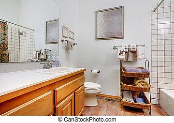 紫色, 浴室, タオル