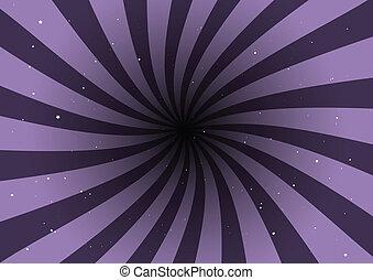 紫色, 渦巻, ベクトル, 背景