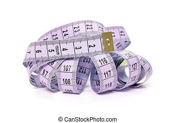 紫色, 測定, テープ