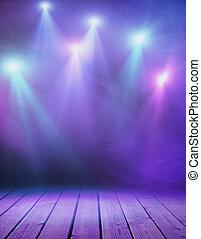 紫色, 煙, ステージ