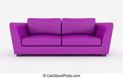 紫色, 現代, ソファー