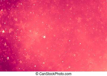 紫色, 發光, 星, 背景