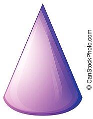 紫色, 白色, 圓錐, 形式