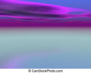 紫色, 空