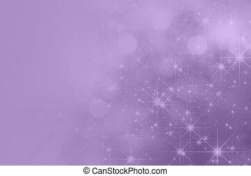 紫色, 紫丁香, 星, 衰落, 背景