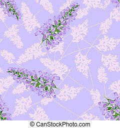 紫色, 花, seamless, パターン