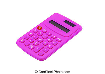 紫色, 计算, 隔离, 在怀特上