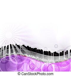 紫色, 都市