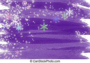 紫色, 雪, 楽しみ