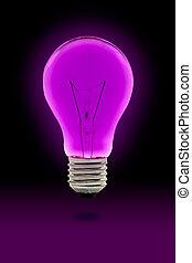 紫色, 電球, ライト