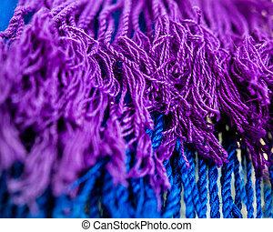 紫色, 青, tassles