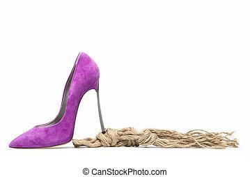 紫色, 高い かかと
