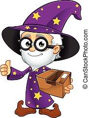 紫色, 魔法使い, 古い