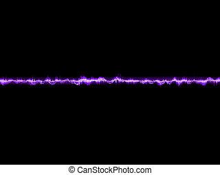 紫色, 10, 抽象的, waveform., eps