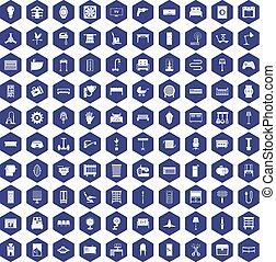 紫色, 100, 六角形, 供給, アイコン