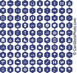 紫色, 100, 六角形, 手袋, アイコン