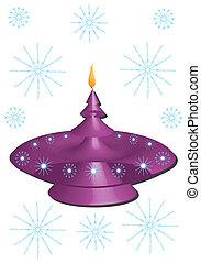 紫色, candlestick