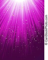 紫色, eps, 星, 8, 落下, 發光, rays.