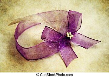 紫色, grunge, 帶子, 背景