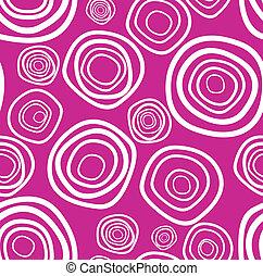 紫色, seamless, 手ざわり, ベクトル, handdrawn, 円
