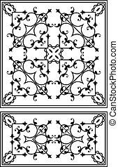 細工された鉄, グリル, 門, ドア, フェンス, 窓, 手すり, デザイン