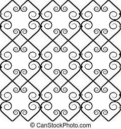 細工された鉄, パターン