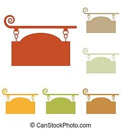 細工された鉄, 印, ∥ために∥, 旧式, デザイン