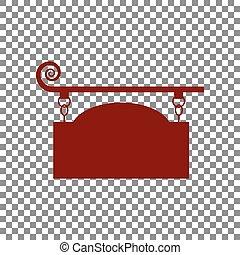細工された鉄, 印, ∥ために∥, 旧式, design., くり色, アイコン, 上に, trans